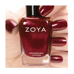 Zoya Nail Polish in India a deep, luxurious red with a gold liquid metallic shimmer