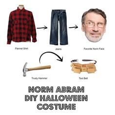 Best #DIYHalloweenCostume ever! Go as Norm Abram! Download your Norm face here: http://img2.timeinc.net/toh/static/pdf/14/norm-abram-side-eye.pdf