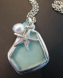Seaglass necklaces! So beautiful! (and I'm quite bias, because my MOM makes them!)