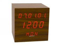 table alarm clock - walnut wood