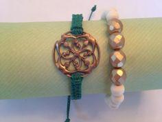 Macrame bracelet with beaded bracelet by AroundMyWrist on Etsy, $14.95