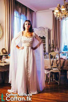 Robe marocaine on pinterest caftan marocain caftan 2014 for Caftan avec satin de chaise