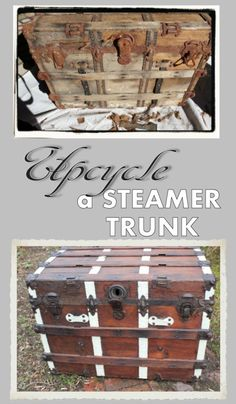 I put a lot of work into this piece, but it was all worth it in the end.  Lovin' the upcycled steamer trunk ~ Viral Upcycle