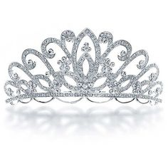 Bling Jewelry Bling Jewelry Bridal Flower Tiara Headpiece With Crystal... ($41) ❤ liked on Polyvore featuring accessories, hair accessories, crowns, jewelry, tiaras, hats, clear, flower crown, rhinestone crowns and crown tiara