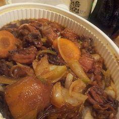 한국 야식의 최고봉, 찜닭과 처음처럼 순한맛 ㅎㅎ  소주, soju, 처음처럼, 한국 술, korean drink, 알칼리 환원수로 만든 깨끗한 술♥