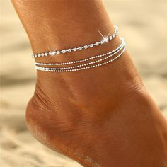 H:HYDE Fashion Women Gold Color Chian Anklet On Foot Girl Beach Bracelet Tassel Bohemian Anklets Barefoot Sandal Jewelry Gifts  Price: 7.95 & FREE Shipping  #necklace #sportsjewelry #accessories #jewelry