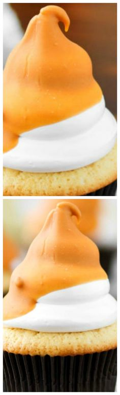 Butterscotch Dip Cupcakes ~ Adorable and delectable in one shot... They're true show stoppers!