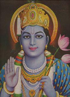 Krishna... Alte indische andächtig print