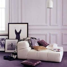 Decorating with purple and white