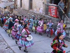Ollantaytambo, Peru.  There was a festival going on.  I want to go back to this town again!