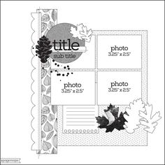 Scrapbook Layout Sketches, Scrapbooking Layouts, Scrapbook Paper, Digital Scrapbooking, Map Sketch, Page Maps, Photo Sketch, Sketch Inspiration, Photo Layouts