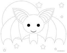 Bat to color for Bat Appreciation Day 4-17-2012