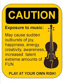 Orchestra Classroom Ideas: Orchestra Sign - CAUTION