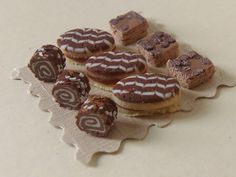 Delish Looking! #Chocolate Pastries - #dollhouse #miniature #food