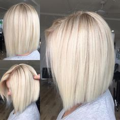 70 Winning Looks with Bob Haircuts for Fine Hair Polished Straight White Blonde Bob More from my site 70 Fantastic Stacked Bob Haircut Ideas 70 Best Bob Haircuts – Stunning Bob hairstyles for Women 2019 Keratin Hair Smoothing Bob Haircut For Fine Hair, Bob Hairstyles For Fine Hair, Lob Hairstyle, Blonde Bob Haircut, Blonde Bob Hairstyles, Blonde Hair Long Bob, Blonde Hair For Fall, Medium Blonde Bob, Blonde Inverted Bob