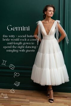Which Wedding Dress Matches Your Zodiac Sign | Junebug Weddings | Bloglovin' Layered Wedding Dresses, Wedding Dress With Pockets, Perfect Wedding Dress, Elegant Ball Gowns, Boho Gown, Tulle Wedding Gown, Romantic Lace, Gowns Of Elegance, Wedding Attire