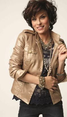 Feminine Shine Utility Jacket #Fall #Lookbook #chicos