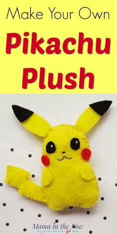 You won't believe how fun it is to make your own Pikachu plush with these complete instructions. Look inside for everything you need! Sew a Pikachu Pokemon plush. Fun activity for a Pokemon birthday party. Make this felt Pokemon craft for the Pokemon fan in your life! #Pokemon #pokemoncraft #pikachu #pikachucraft #CraftsforKids #mamainthenow