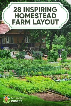 Garden Planning 28 Farm Layout Design Ideas to Inspire Your Homestead Dream - Are you not sure if you can make homesteading work with the amount of land you have? Here are 28 farm layout design ideas to inspire you. Homestead Layout, Homestead Farm, Homestead Gardens, Farm Gardens, Homestead Property, Front Gardens, The Farm, Mini Farm, Small Farm