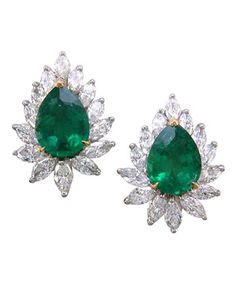 emerald and diamond earrings #green #wedding #bridemaids