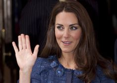 The Duchess of Cambridge waves as she leaves Goldsmith's Hall in the City of London, following a reception to celebrate the centenary of the expedition to the South Pole by Scott-Amundsen, Thursday, April 26, 2012. (AP Photo/Alastair Grant)