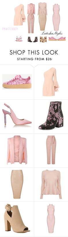"""""""PINKTOBER!"""" by lateshastyles on Polyvore featuring Exclusive for Intermix, Sophia Webster, Sam Edelman, Topshop, BOSS Hugo Boss and Posh Girl"""