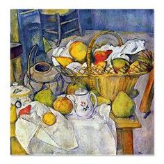 Paul Cezanne Fruit Basket Still Life Shower Curtain