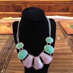 Brand New Geometric Necklace Pretty Summer Colors in this brand New Necklace Jewelry Necklaces