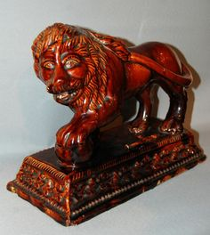 C19th Treacle Glazed Lion 19th century England US$856.8