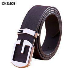 2017 Hot Sale Men Smooth Buckle Belt Popular PU Leather Man Designer Belt High Quality All-Match Men's Fashion Belts