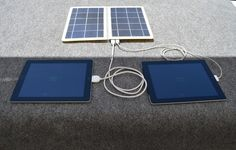 sCharger-14 USB Solar Charger   Solar for Ipad...this is exciting.