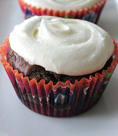 sugar & spice: Brownie Cupcakes with White Chocolate Cream Cheese Frosting