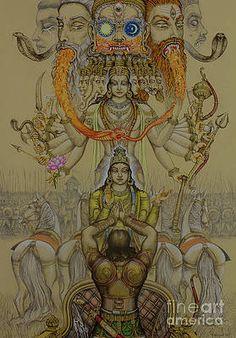 Medium: acrylic on canvas Size: cm Status: This is the series of paintings of 10 avataras of Lord Vishnu for Museum of Sacred art, Belgium Shiva Hindu, Shiva Art, Hindu Deities, Krishna Art, Hindu Art, Shiva Shakti, Radhe Krishna, Hanuman, Indian Gods