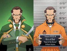 Ra's al Ghul Gotham Villains, Comic Villains, Im Batman, Batman Arkham, Batman Stuff, Ras Al Ghul, Marvel And Dc Superheroes, Arkham Asylum, Dc Characters