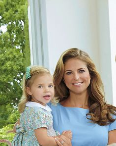 "oneillsofsweden: """"Princess Madeleine and Princess Leonore in the family photo released of the Swedish Royal Family taken at Solliden Palace this past July."" """