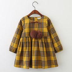 Brand Printing Princess Dress Autumn Style Long Sleeve Flowers Printing Design for Children Clothes