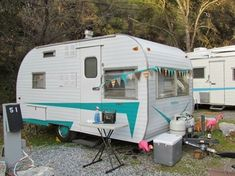 Photos -  Vintage camper trailers, classic cars, & mid century memorabilia----LOVE THE PENNANT BANNER