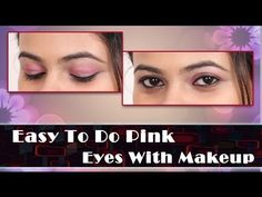 khoobsurati.com Lovely Eyes, Makeup Tutorial For Beginners, Eye Makeup Tips, Pink Eyes, Beauty Make Up, Easy, Beginner Makeup Tutorial, Red Eyes