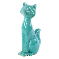 Urban Trends Abstract Ceramic Fox Sculpture - 28628