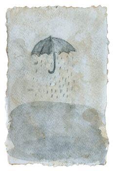 Soojung Cho, mixed media, under the rain