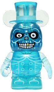 Hatbox Ghost Mickey Mouse Vinyl Toy by Casey Jones. Vinylmation Haunted Mansion from Disney.