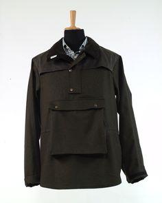 """Modell """" LECH """": Das legere Lodenhemd - Smock  Diese Form der Bekleidung war ursprünglich eine Arbeitsbekleidung, eine Art Arbeitskittel. Im Englischen Raum... Form, Smocking, Leather Jacket, Fashion, Dressing Up, Model, Clothing, Jackets, Cotton"""
