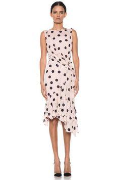super trendy, polka dot Ruffle Dress. #women #dress