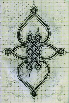 Celtic Knot Work Schematic Drawing