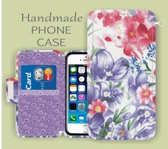 Purple Floral iPhone Case iPhone 6S Plus by superpowerscases