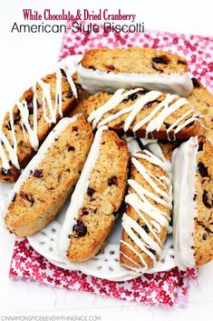 White Chocolate & Dried Cranberry American-Style Biscotti