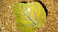 large leaf bird bath - Google Search. I'd like to make one of these. Try rhubarb or large hosta leaf.