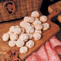 Pecan Sandies Cookie Recipe Taste of Home, trying these tonight see if they turn out...