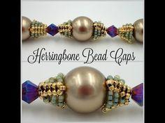 Herringbone bead caps ~ Seed Bead Tutorials