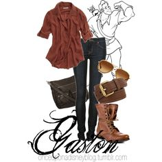 Gaston, created by disneyoutfits